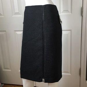 NEW KASPER black charcoal career straight skirt 16